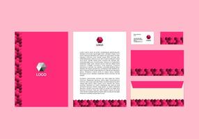 Design gratuito di carta intestata vettoriale rosa