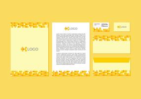 Design di carta intestata di vettore giallo gratuito