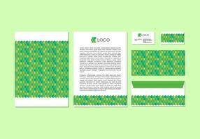 Design gratuito di carta intestata verde vettoriale