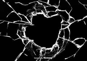 Fondo di effetto di vetro rotto di vettore