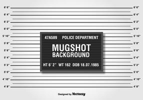 Allineamento della polizia o sfondo Mugshot vettore