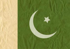 Bandiera vettoriale gratuita del Pakistan su struttura di cartone