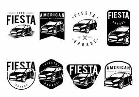 Set di badge Ford Fiesta vettore