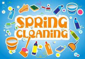Illustrazione vettoriale di pulizie di primavera