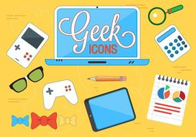Icone vettoriali Geek