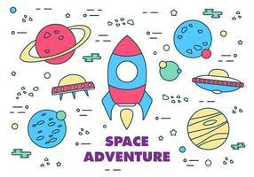 Elementi vettoriali gratis dello spazio