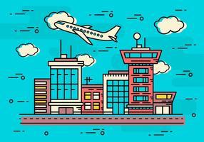 Vettore aeroporto lineare