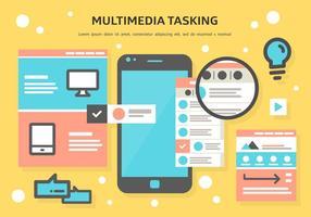 Multimedia Tasking Vector gratuito