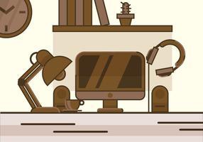 scrivania di design vettoriale