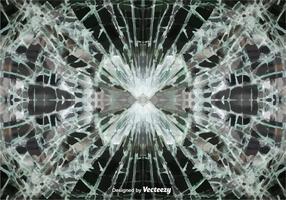 Vector sfondo di vetro incrinato
