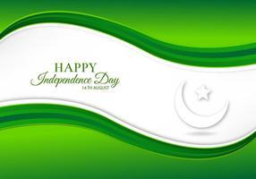 Illustrazione vettoriale gratuito con bandiera del Pakistan