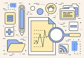 Illustrazione vettoriale di ricerca digitale