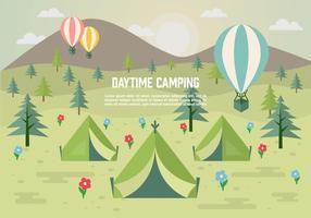 Campeggio di giorno libero di vettore