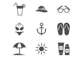 Icona spiaggia minimalista vettore