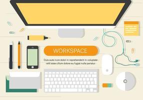 Illiustration gratuito di lavoro spazio vettoriale