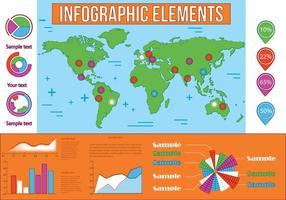 Elementi vettoriali infografica gratis