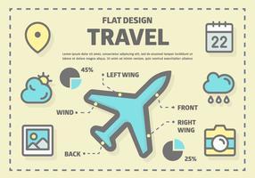 Elementi vettoriali di viaggio gratis