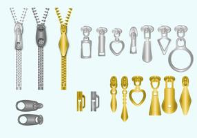 Zipper Pull Vector Set