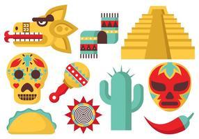 Vettore libero delle icone del Messico