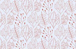 Outline Pattern delle piante vettore