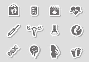 Vettore gratuito di icone di gravidanza
