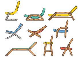 Vettore gratuito delle icone della sedia a sdraio