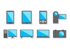Vettore gratuito dell'icona dei dispositivi elettronici