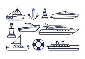 Icone nautiche gratuite vettore