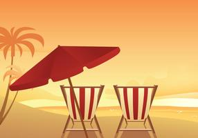 Vettore libero della sedia Beach