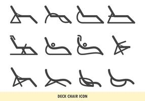 Icona della sedia a sdraio