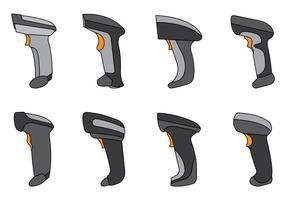 Set di vettore di scanner di codici a barre