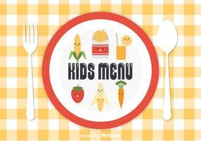 Vettore di menu per bambini gratis