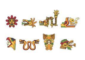 Vettore gratuito di Quetzalcoatl Doodle
