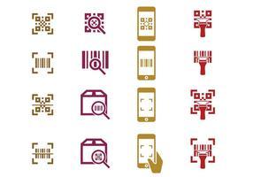 Icona del lettore di codici a barre vettore