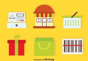 Icone degli elementi dello shopping vettore