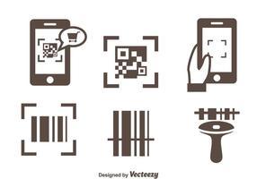 Vettore delle icone del lettore di codici a barre