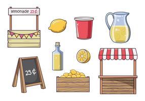 Vettori di stand di limonata