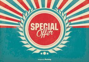 Sfondo promozionale offerta speciale retro
