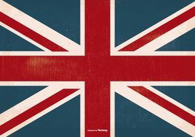 Vecchia bandiera del Regno Unito grunge vettore
