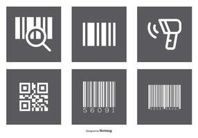 Set di icone di codici a barre assortiti vettore