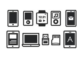 Set di icone del gadget vettore