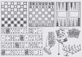 Disegni di gioco da tavolo vettore