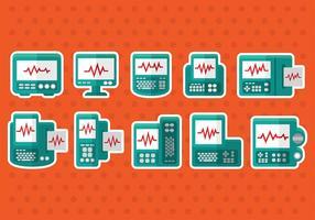 Icone di vettore del monitor di cuore
