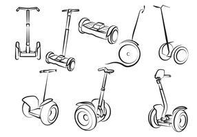 Set gratuito di Scooter elettrico vettore