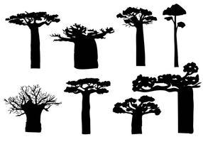 Vettore libero del silhouete del baobab