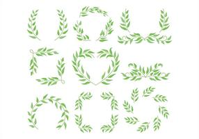 Cornice di eucalipto vettore