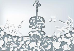 Violino con sfondo di note