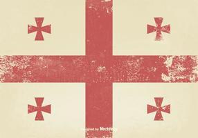 Vecchia bandiera medievale vettore