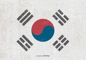 Bandiera del grunge della Corea del sud vettore