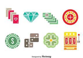 Icone di colori elemento casinò vettore